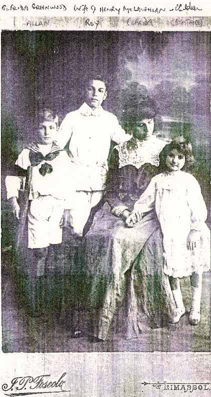 Elfrida McLaughlan and children