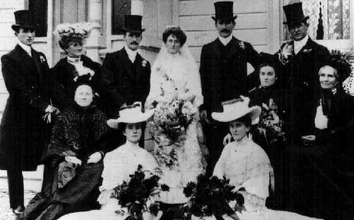 Marriage of Myra Lewis Zohrab and Frank Farquhar Colledge 25/4/1905